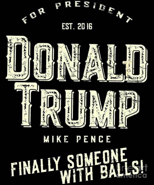 Donald Trump Mike Pence 2016 Vintage Poster