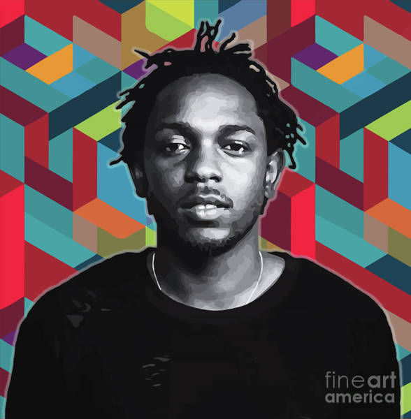 Poster featuring the painting Don't Kill My Vibe Kendrick by Carla B
