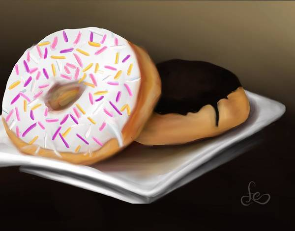 Poster featuring the painting Doughnut Life by Fe Jones