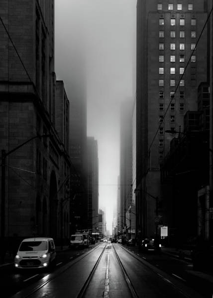 Poster featuring the photograph Downtown Toronto Fogfest No 26 by Brian Carson