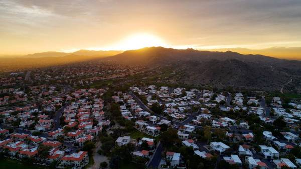 Dramatic South Mountain Sunset Poster