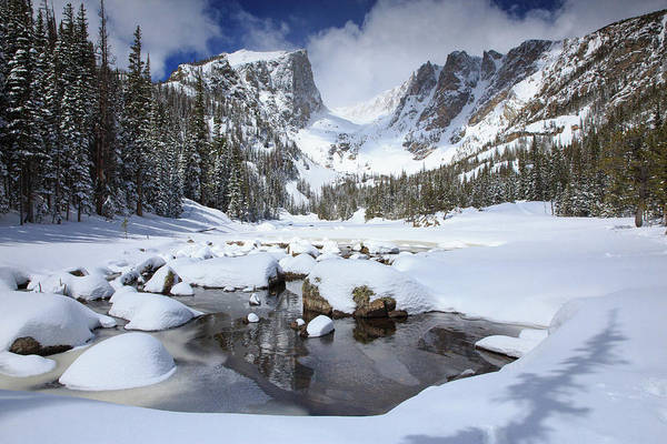 Dream Lake Winter Reflections  Poster