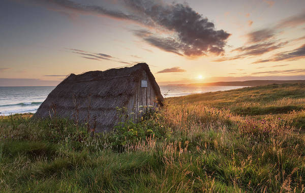 Poster featuring the photograph Drying Hut - Freshwater West by Elliott Coleman