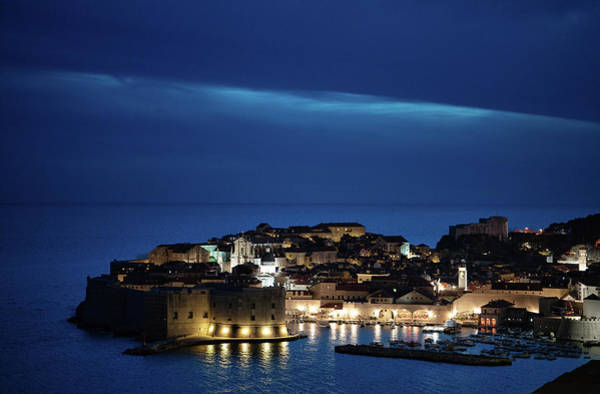 Dubrovnik Old Town At Night Poster