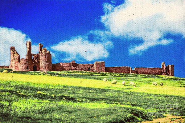 Dunstanburgh Castle In Oil Poster