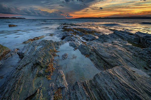 Dusk At Kettle Cove Poster