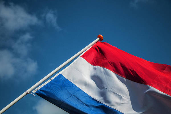 Poster featuring the photograph Dutch Flag by Anjo Ten Kate