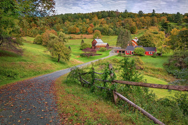 Early Fall At Sleepy Hollow Farm Poster
