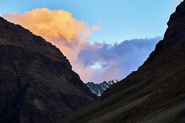 Poster featuring the photograph Early Morning Clouds In Sarchu by Whitney Goodey