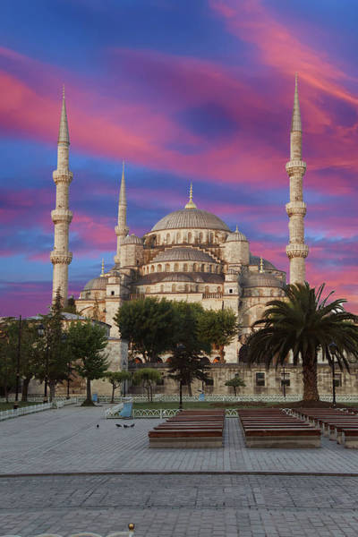 Early Morning Light On  Sultan Ahmet Camii Poster