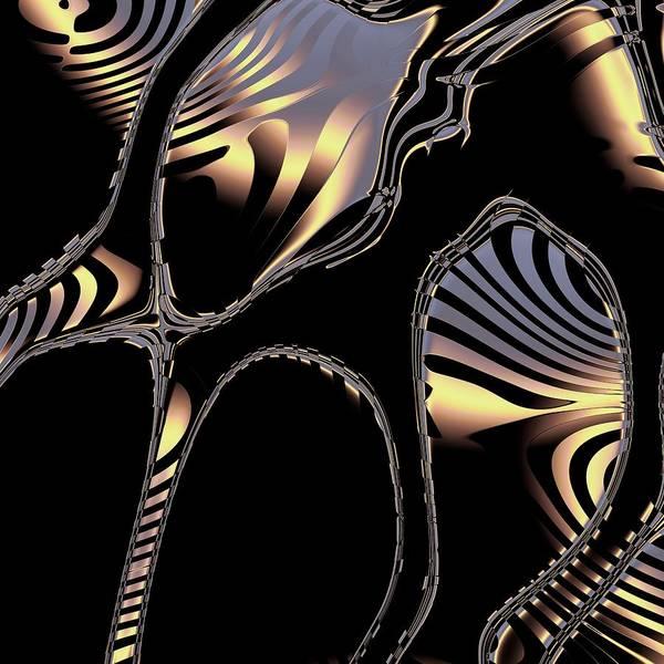 Elegant Black Fractal 1 Poster