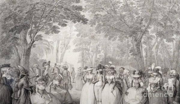 Elegant Figures In Vauxhall Gardens Poster