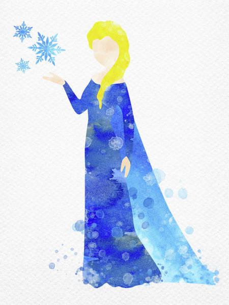 Elsa Watercolor Poster