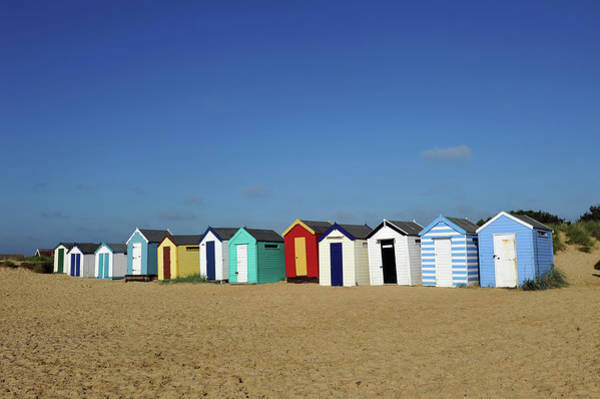 English Beach Huts Poster