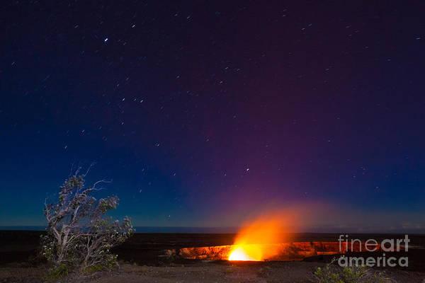 Erupting Volcano In Hawaii Volcanoes Poster