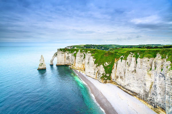 Etretat Aval Cliff, Rocks And Natural Poster