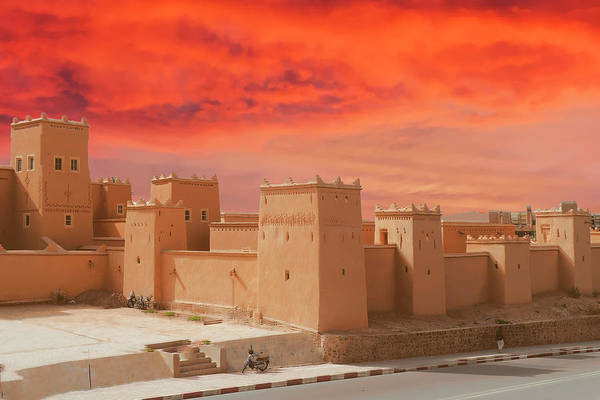 Exterior Buildings Of Kasbah Taourirt Poster