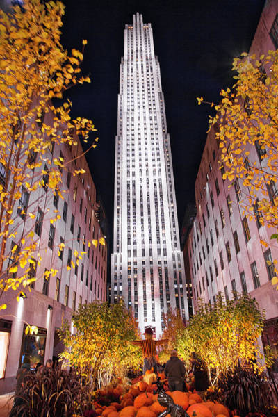 Poster featuring the photograph Fall At Rockefeller Center by Jacqui Boonstra