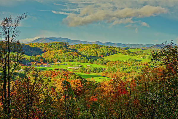 Fall Porch View Poster
