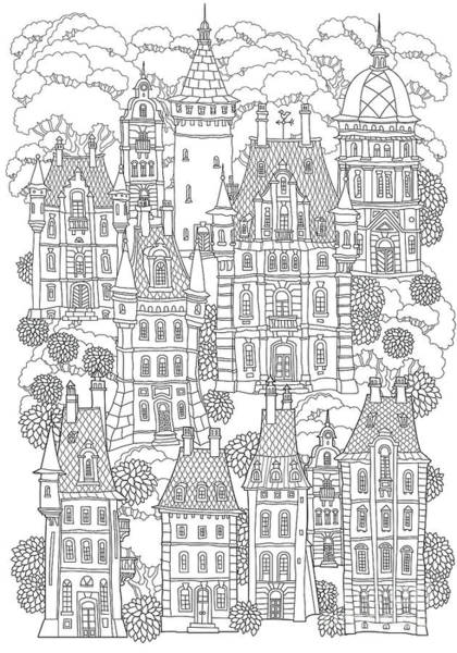 Fantasy Landscape. Fairy Tale Castle Poster