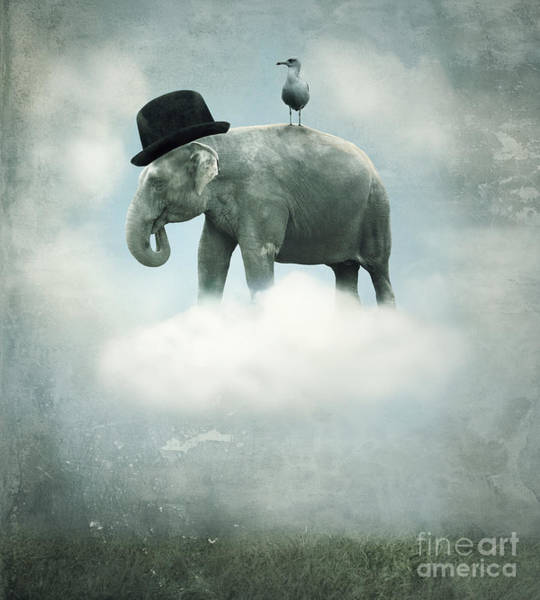 Fantasy Surrealistic Background With An Poster