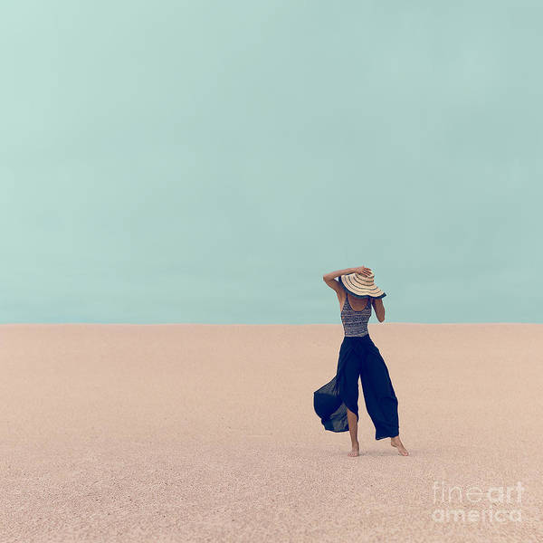 Fashion Model In The Desert On Vacation Poster