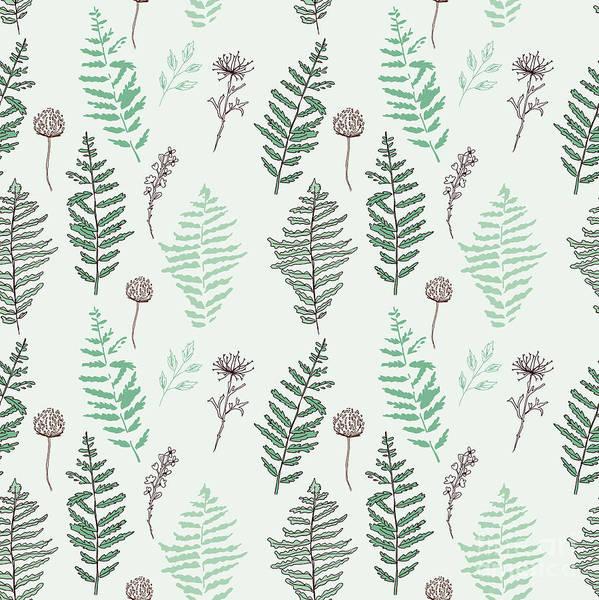 Fern Seamless Pattern. Botanical Poster