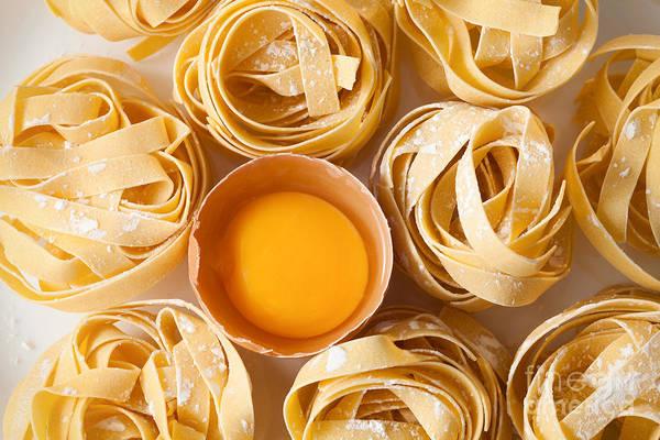 Fettuccine Pasta Italian Food Still Poster