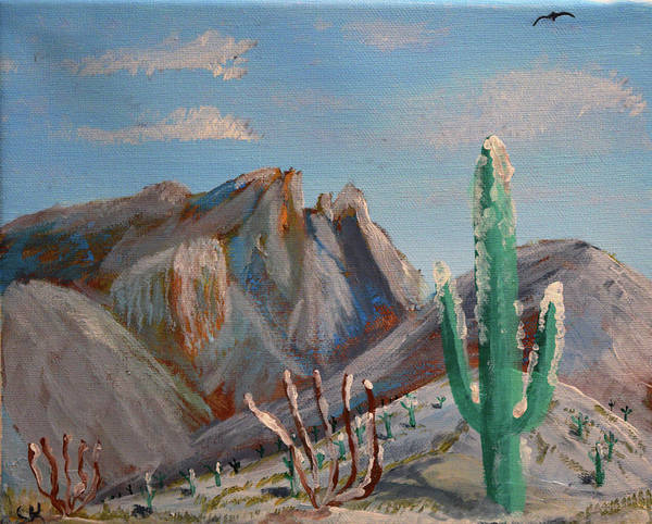Poster featuring the painting Finger Rock Winter by Chance Kafka