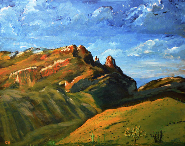 Poster featuring the painting Finger Rock Splendor  by Chance Kafka
