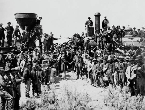 First Opening Of The Transcontinental Railroad - 1869 Poster