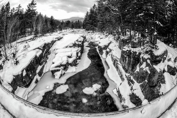 Poster featuring the photograph Fisheye View, Rocky Gorge Nh by Michael Hubley