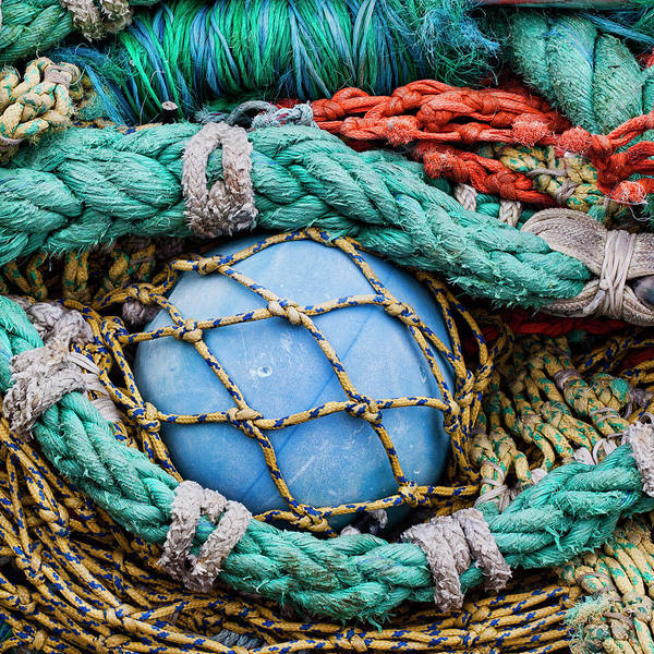 Fishing Nets And Blue Float 7904 Poster