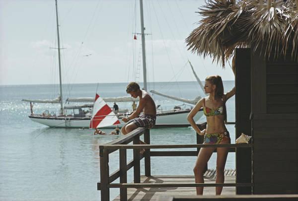 Fishing On Honeymoon Porch Poster