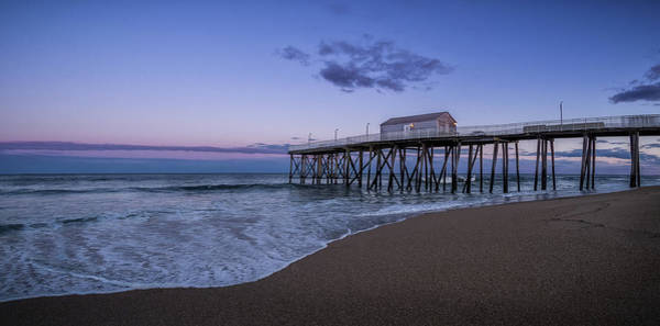 Poster featuring the photograph Fishing Pier Sunset by Steve Stanger