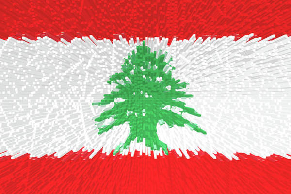 Flag Of Lebanon - Extruded Poster