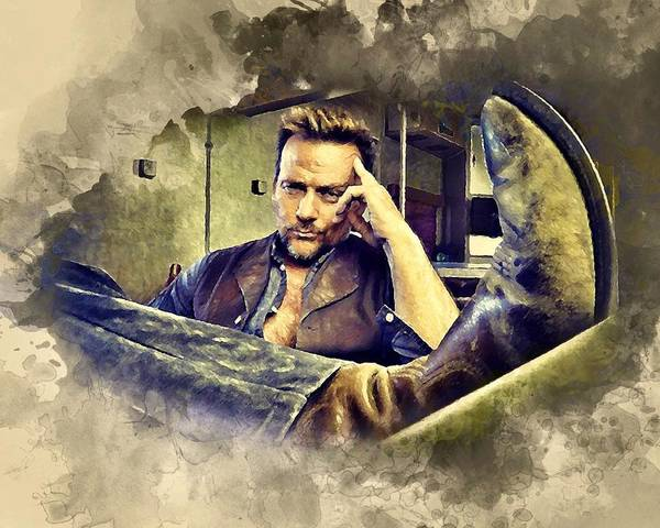 Flanery And His Cowboy Boot Poster