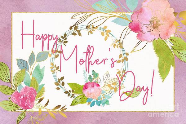 Floral Mother's Day Art Poster