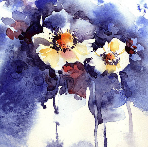 Floral Watercolor Illustration Poster