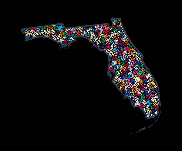 Florida Map - 2 Poster