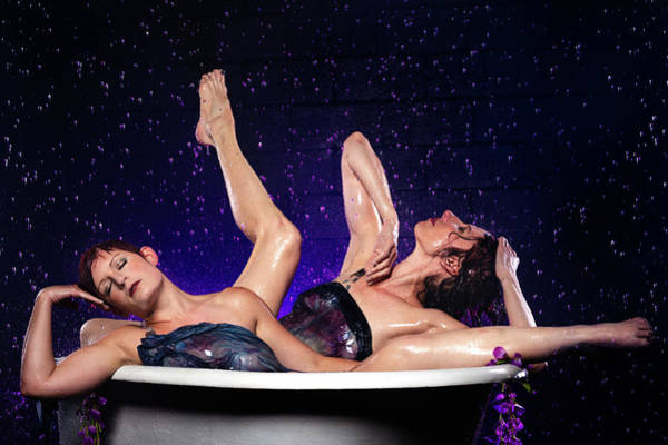 Achelois And Sister Bathing In The Galaxy Poster