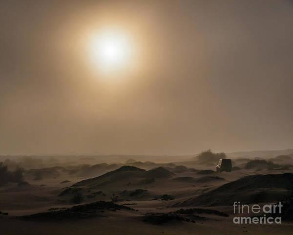 Foggy Morning In The Namib Desert Poster