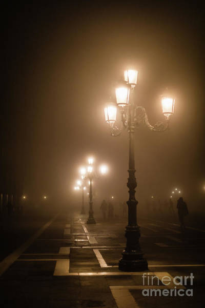 Foggy Piazza San Marco, Venice Poster