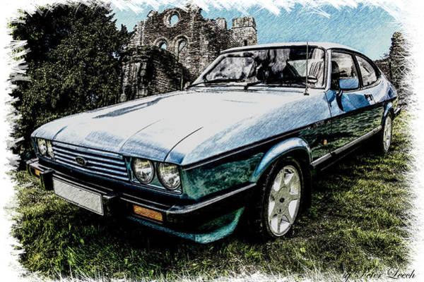 Ford Capri 3.8i Pencil V2 Poster