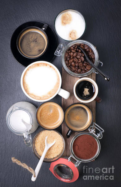 Fresh Coffee With Several Ingredients Poster