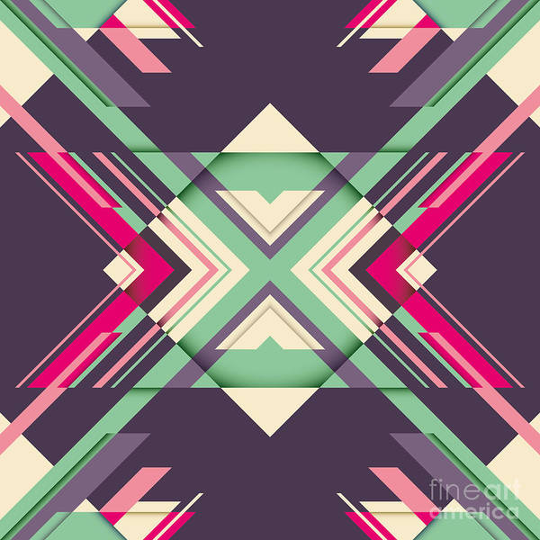 Futuristic Abstraction With Geometric Poster