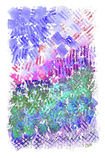 Garden Of Purple And Green Poster