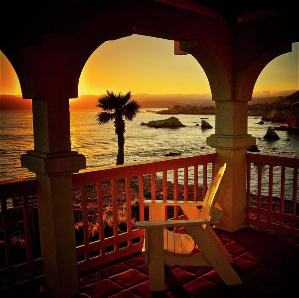 Gazebo View Of Central California Coast Poster