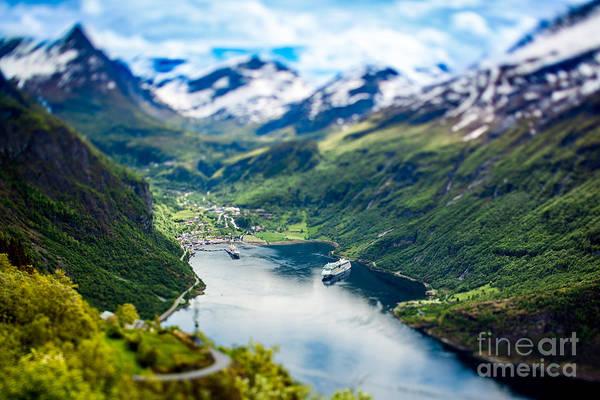 Geiranger Fjord, Beautiful Nature Poster