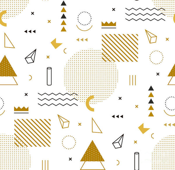Geometric Gold Pattern For Fashion And Poster